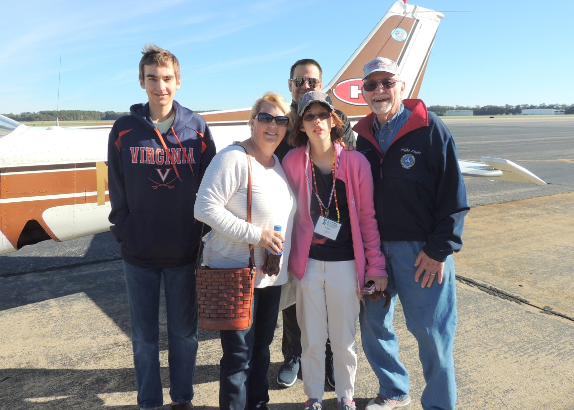 Captain John with Kate and her Family at Newport News