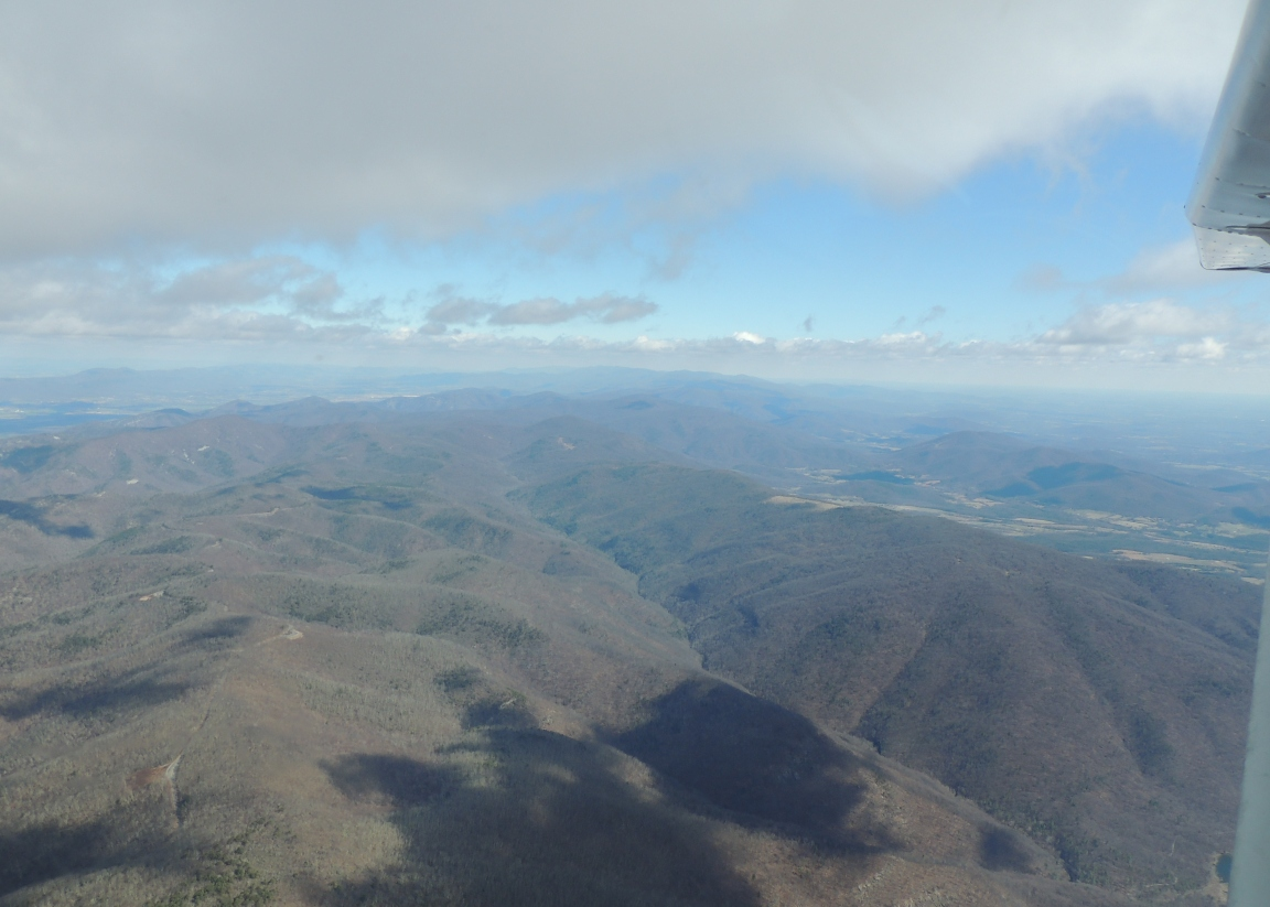 Crossing the Beautiful Blue Ridge Mountains heading to Pittsburgh PA