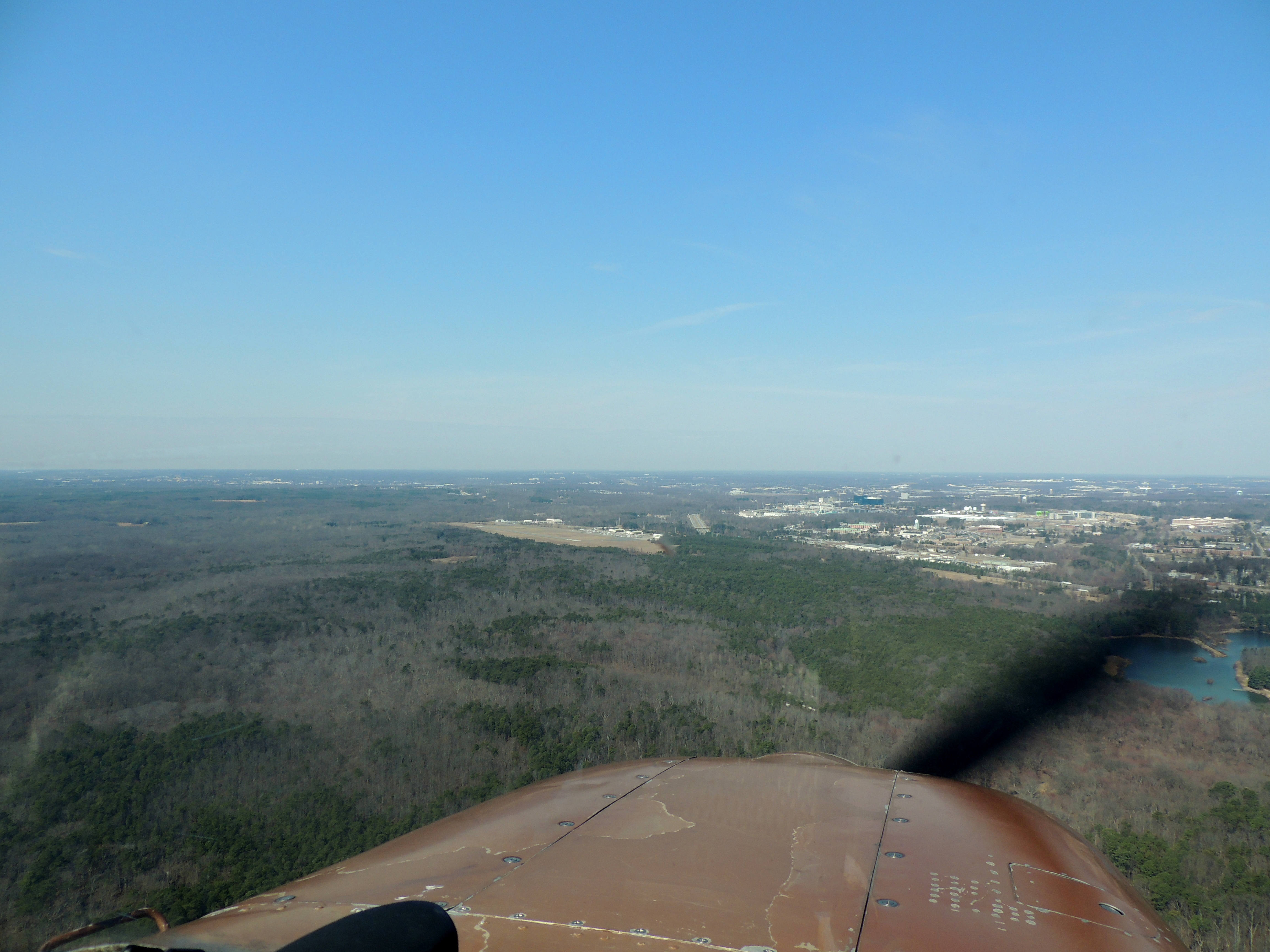 On approach to Fort Meade (Tipton) Maryland