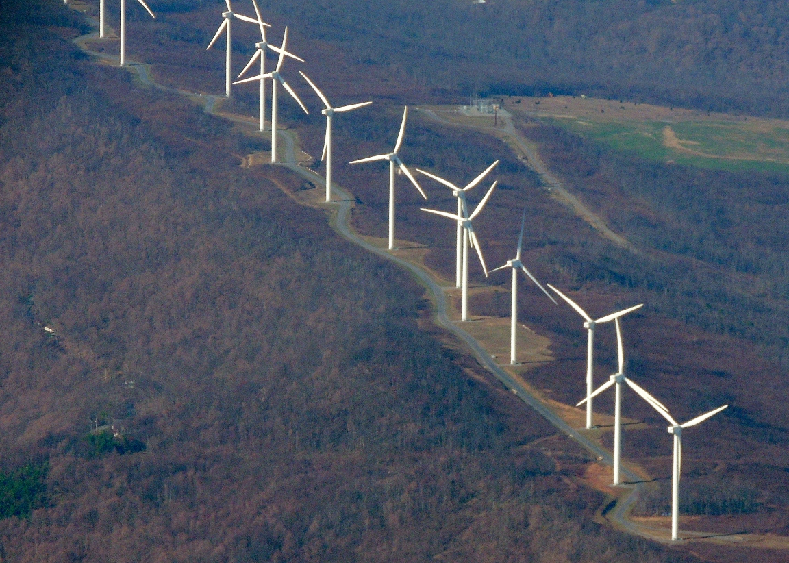 Windmills above Keyser WVa