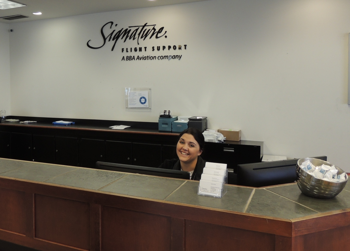 Happy faces at Signature Aviation in Columbus Ohio