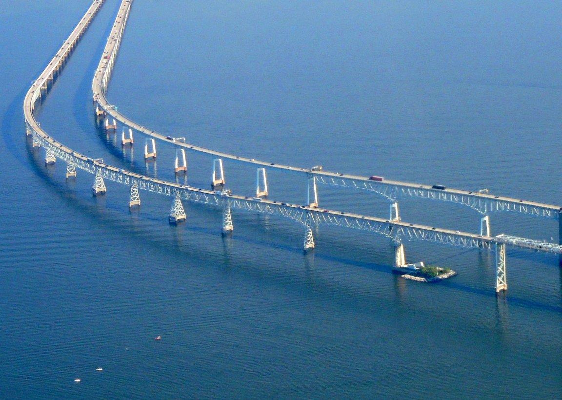 Twin Bay Bridges across the Chesepeake in Maryland