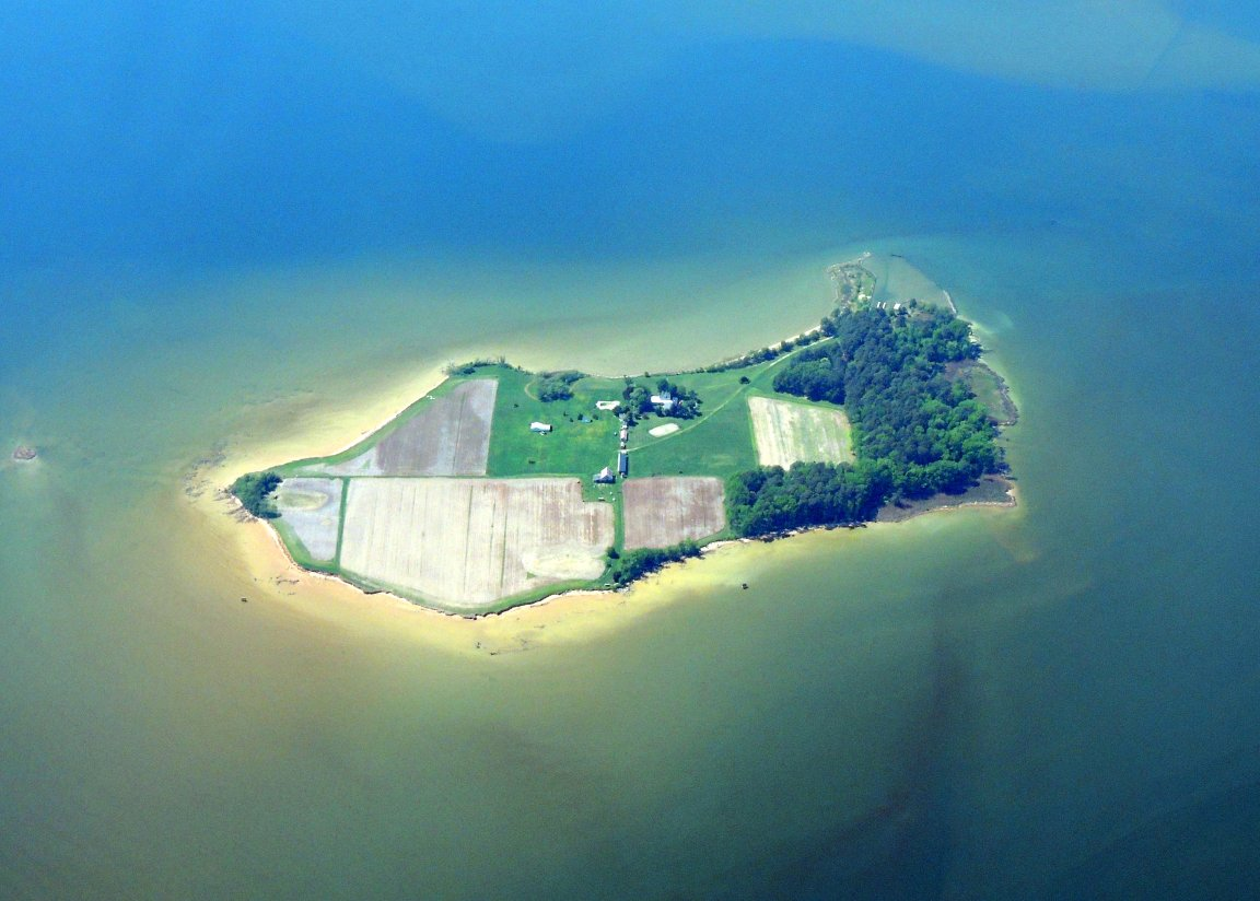 Island in the Chesepeake (Has a Farm on it)