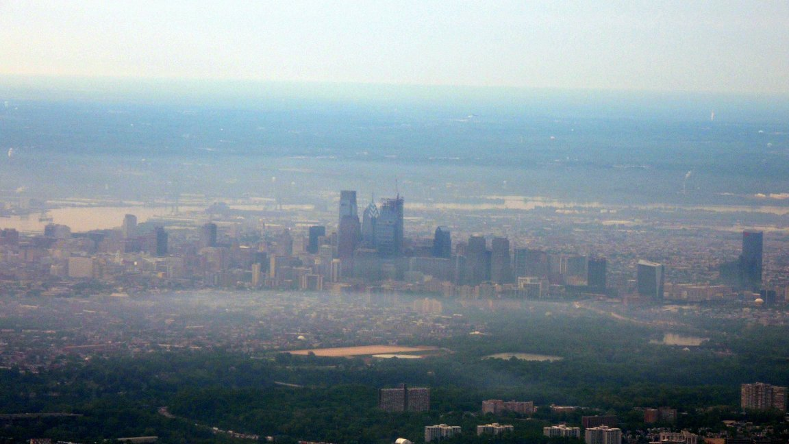 Philadelphia Skyline thru the early morning haze