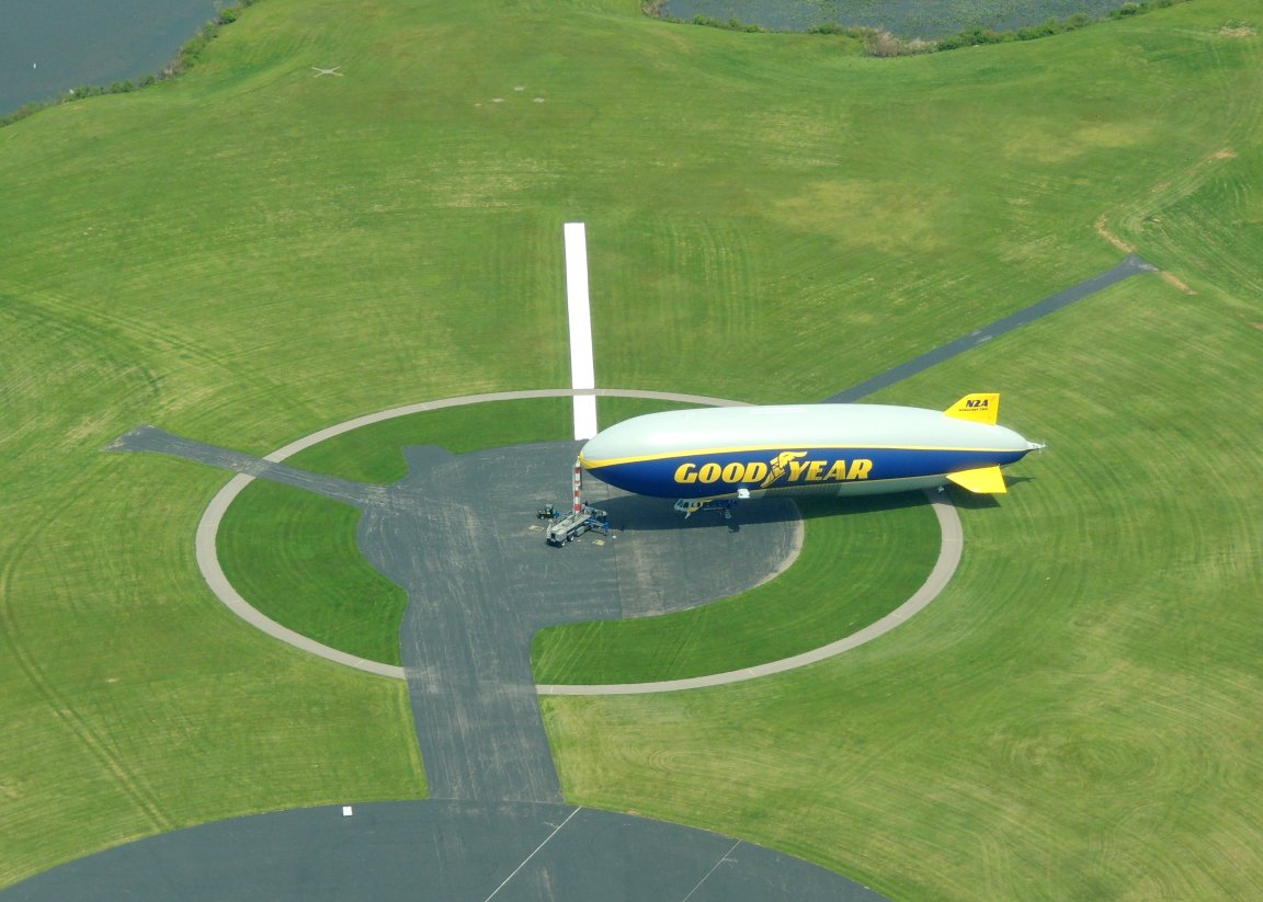 Goodyear Blimp  (Wingfoot Lake Airship Operations.... Ohio)