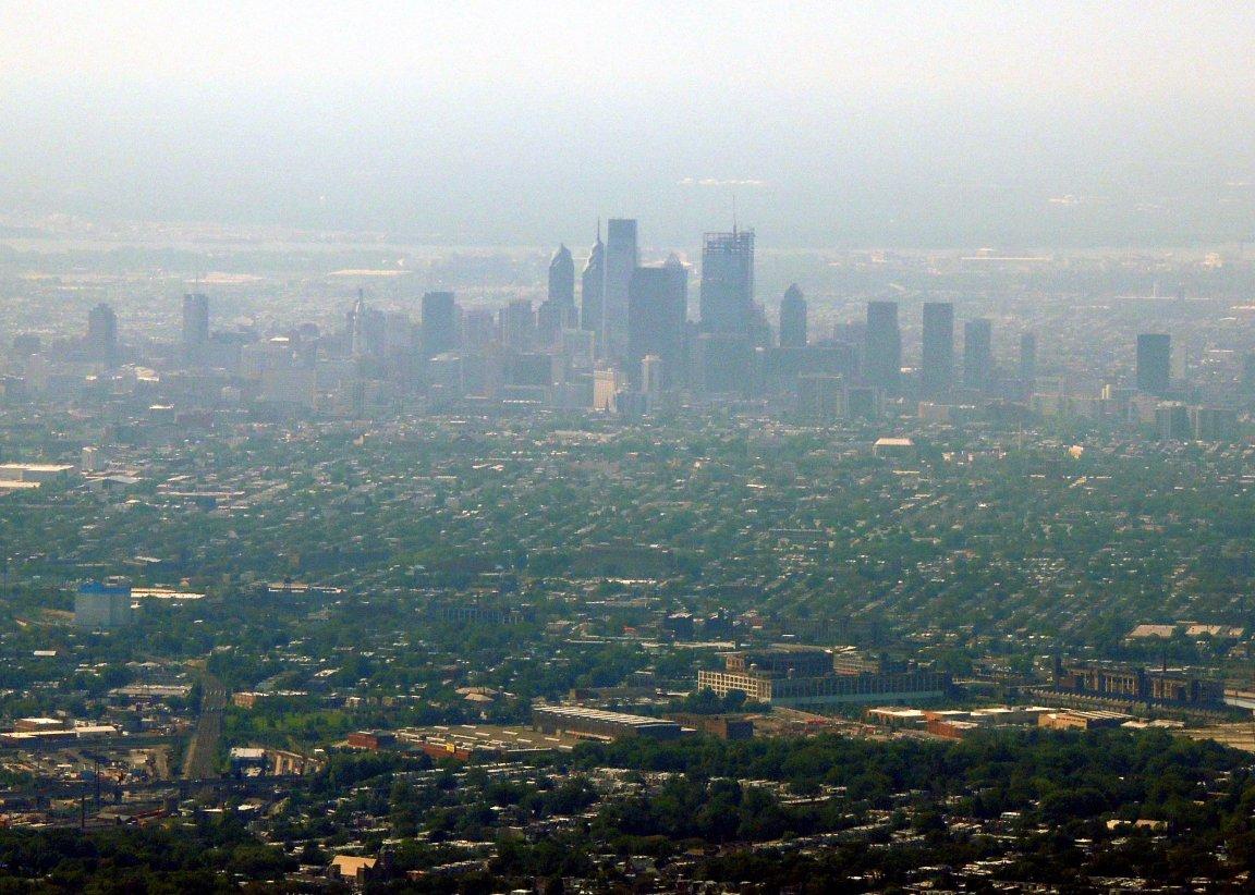 Philly thru the haze