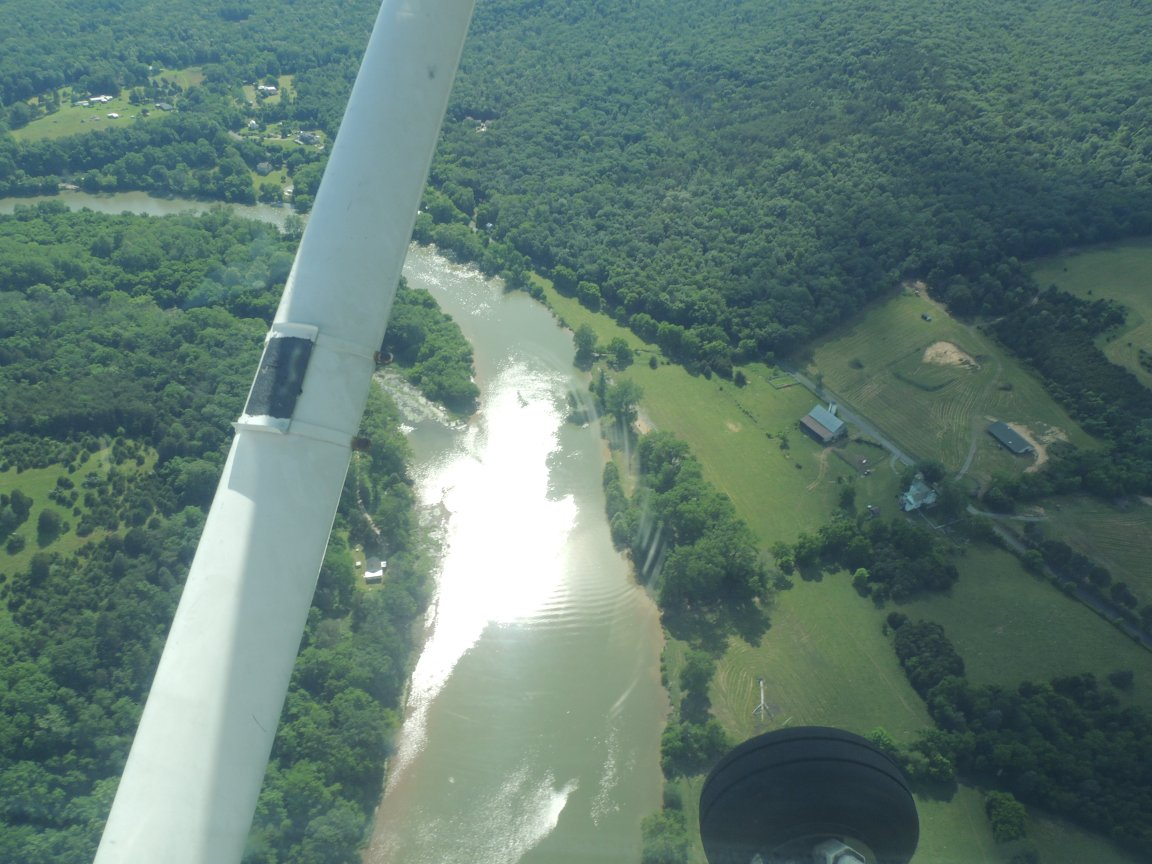Back home....... wheels down..... over the Shenandoah River