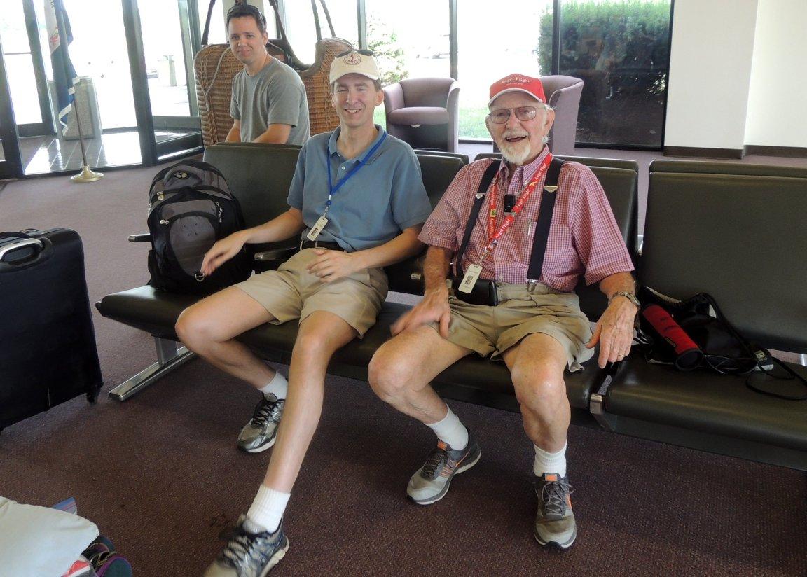 Captain John with Angel Flight Pilot Philip Rash and his co-pilot
