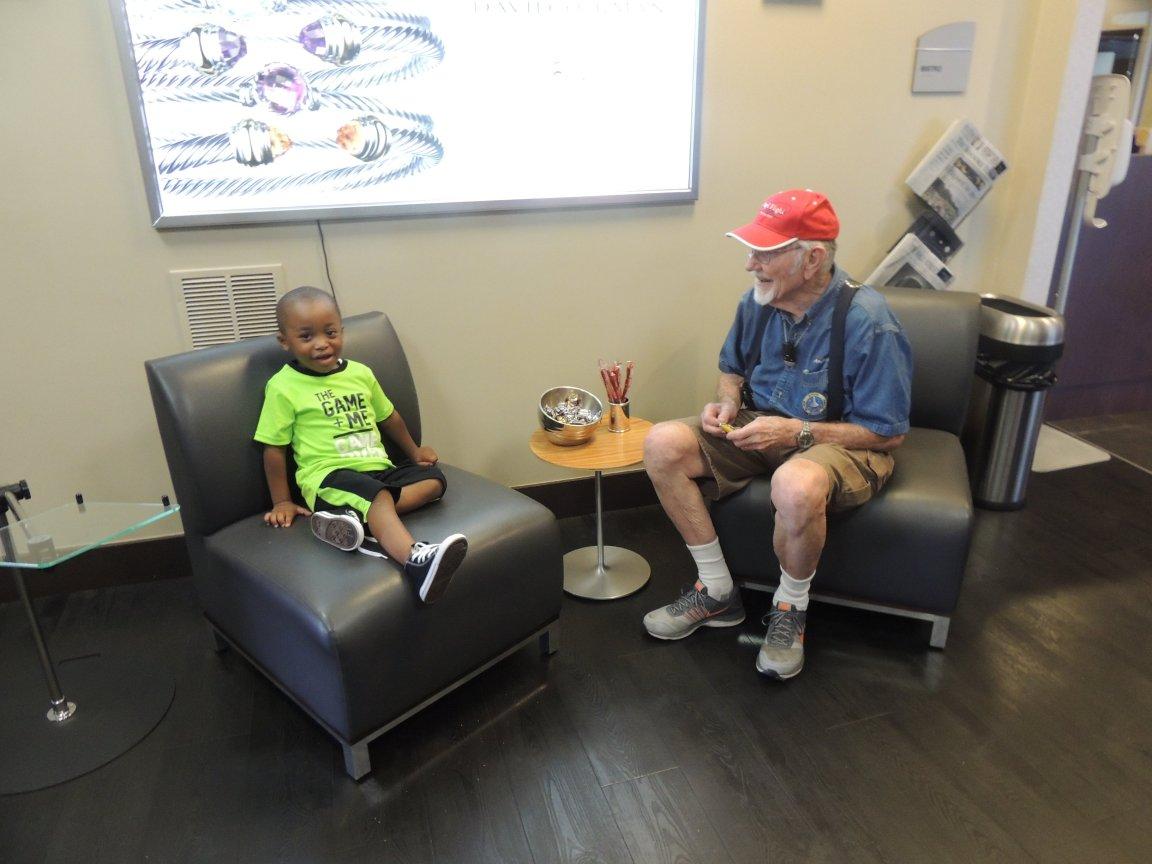 Daniel and Captain John having a little discussion