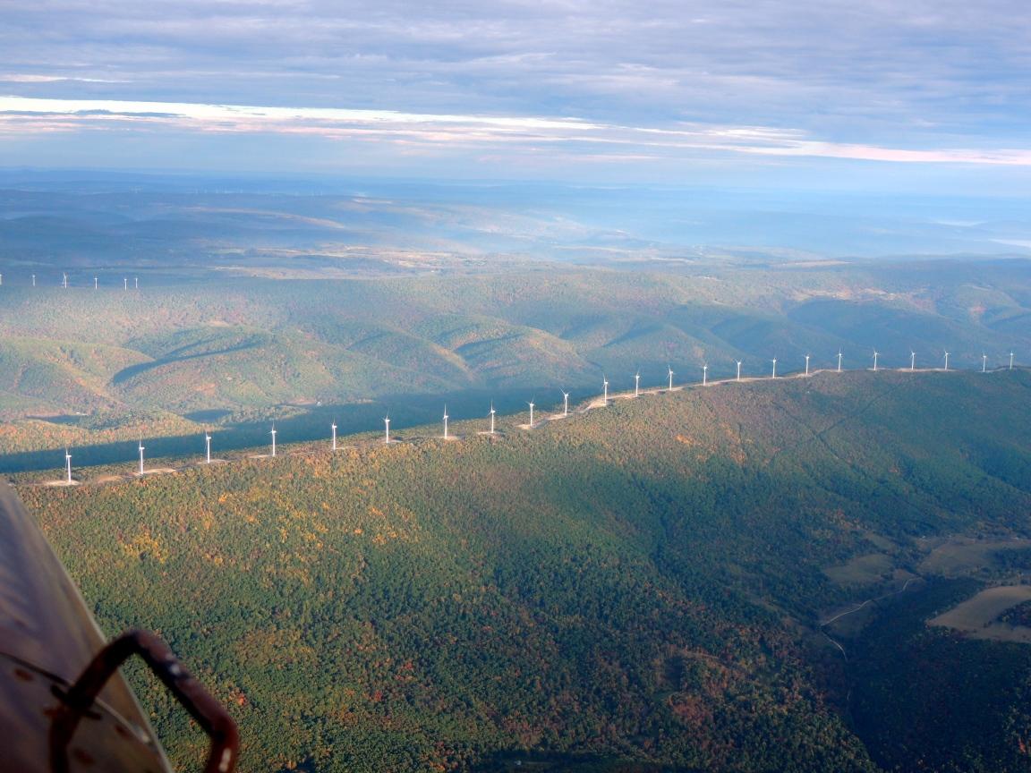 Wind Mills along the ridges in West Virginia