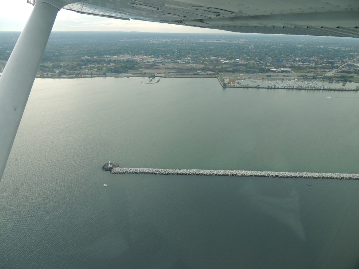 Over Lake Erie before ATC turned us southeast towards Norfolk Va