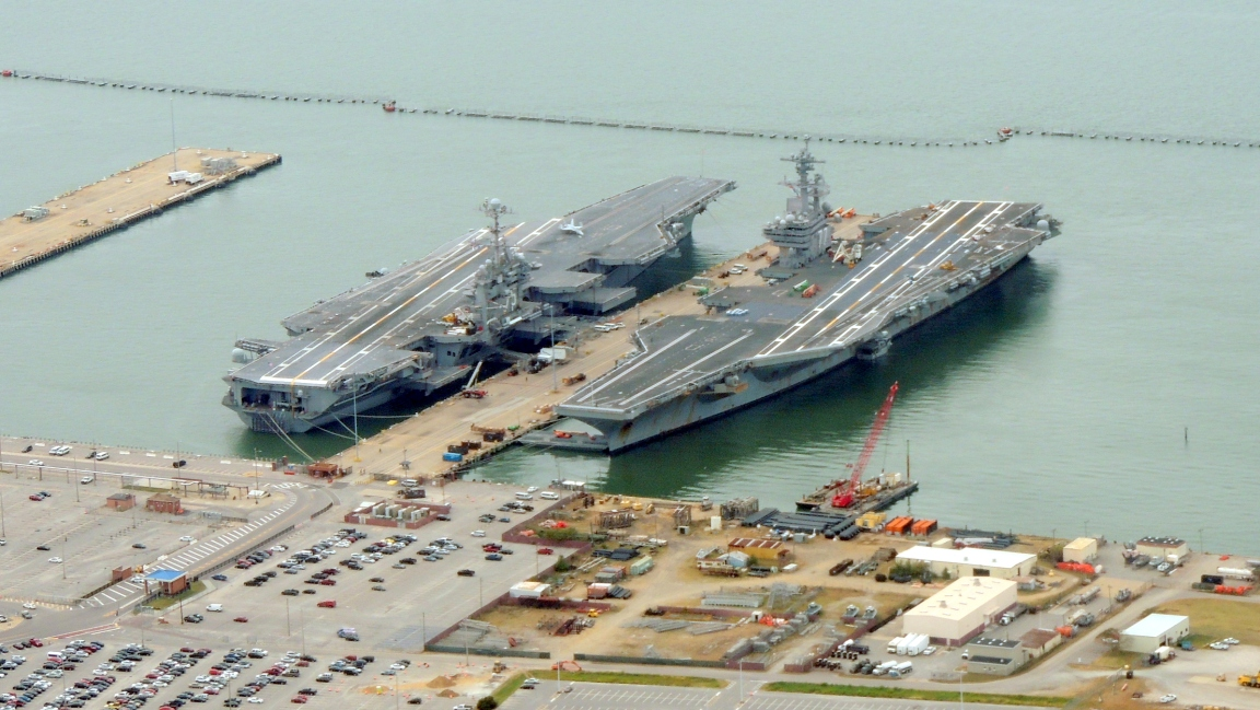 Aircraft Carriers at the Norfolk Naval Yard