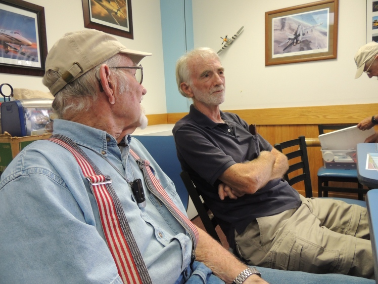 Captain John talking with Don Maxwell