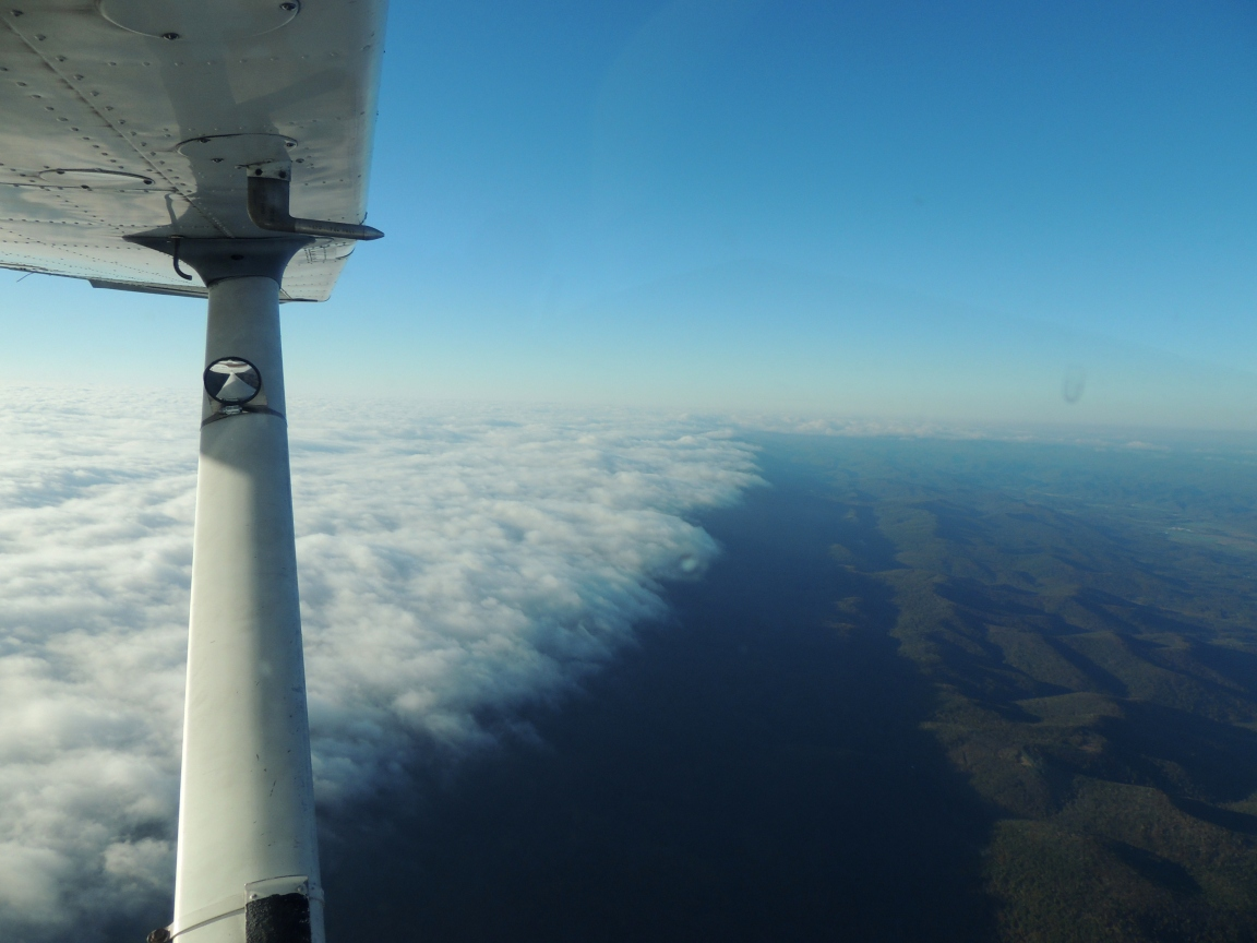 Edge of the Clouds (We are heading west.... over middle WVA)