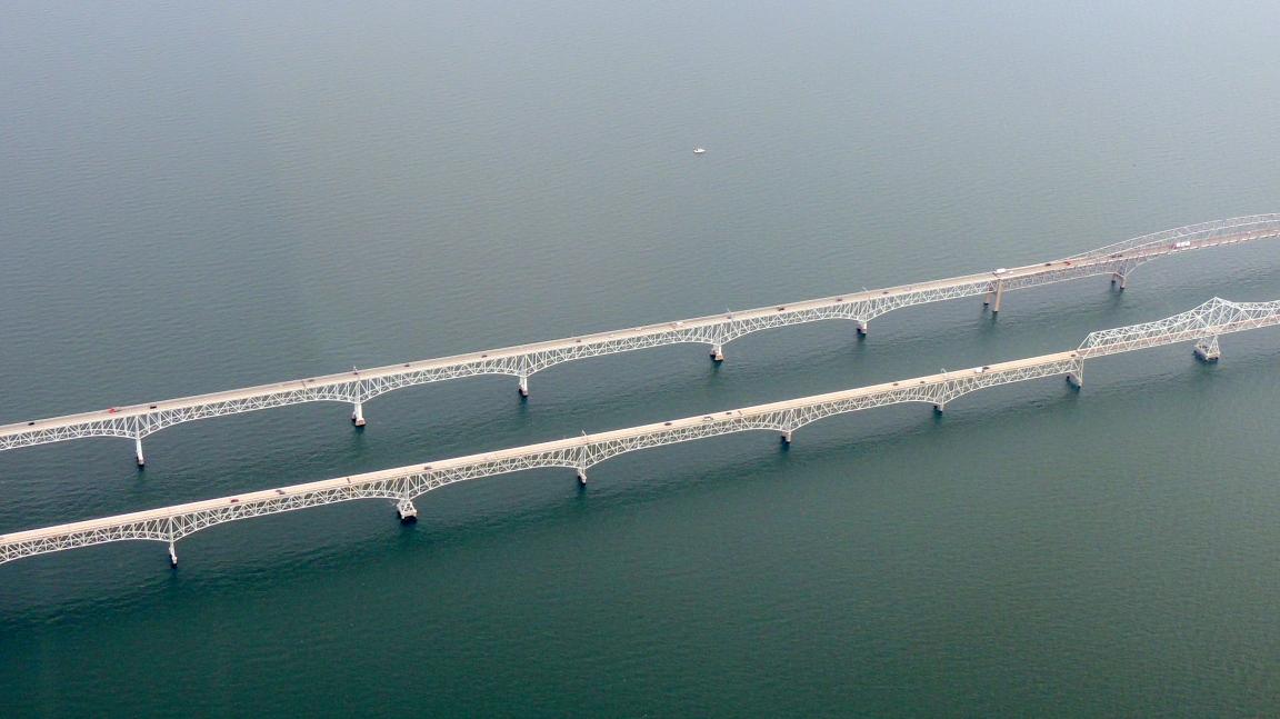 The Twin Bay Bridges over the Chesapeake