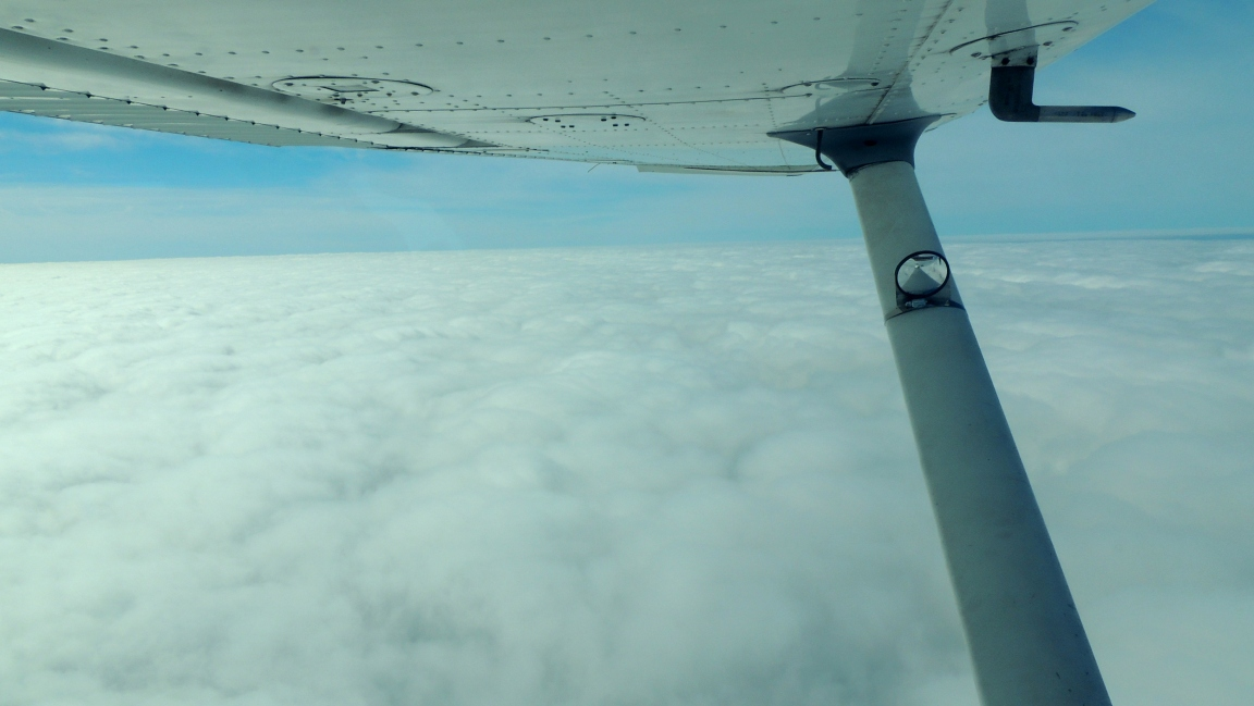 Surfing the clouds on our way to northeast Philly