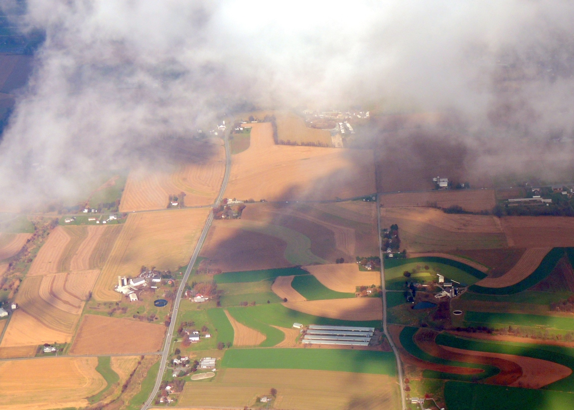 Peeking thru the clouds...... Beautiful Pennsylvania Farms