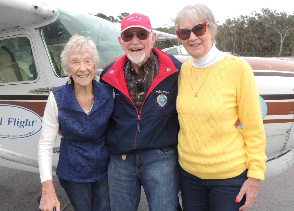 Captain John with his Sister Barbara and Edie (Barbara is on the left)