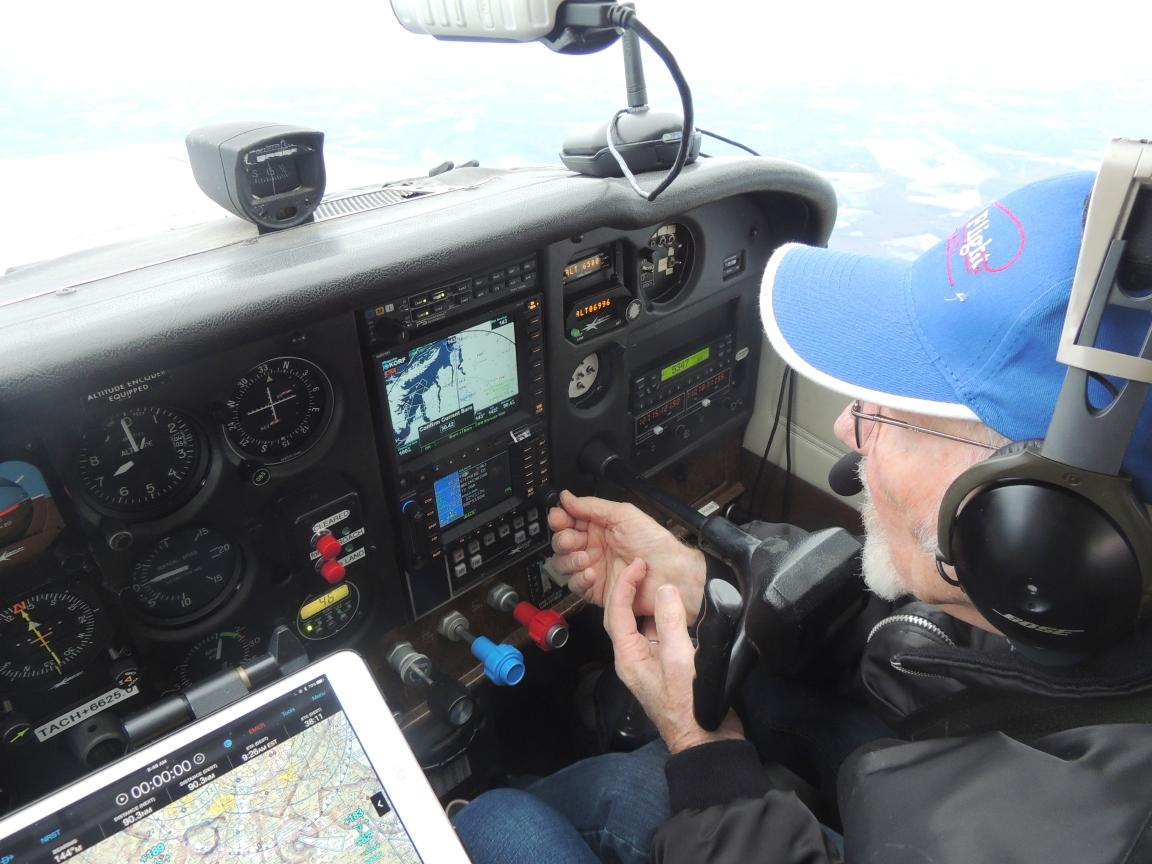 Captain John hard at work ........ on our way to Norfolk VA