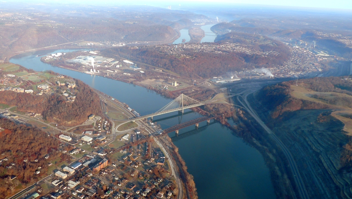 Crossing back over the Ohio River heading for Allentown PA