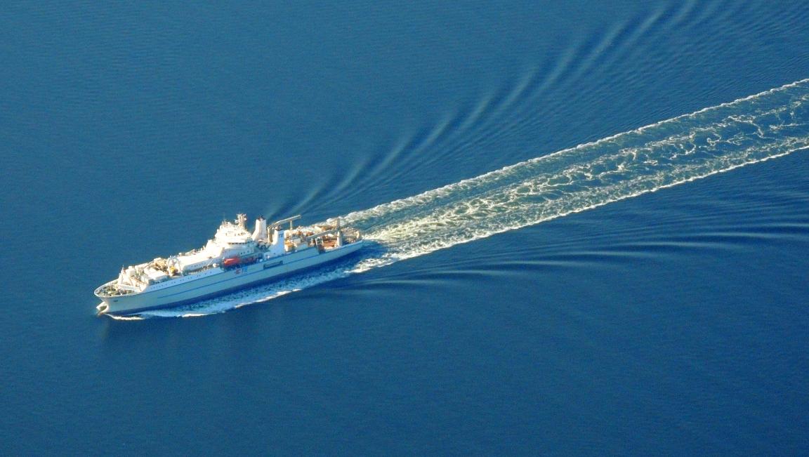 Cruising along over the Chesapeake Bay